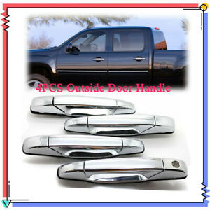 Front Rear Outer Chrome Door Handle 4pcs For Chevy Tahoe Gmc Yukon 2007 2013