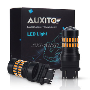 2x Projector 48 Smd 3157 4057 3057 Amber Yellow Led Turn Signal Light Bulbs