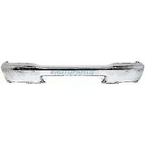 New 1998 2000 Fits Ford Ranger Front Bumper Chrome W Pad Holes Fo1002346