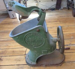 Antique Cast Iron Clawson Snow King Ice Shaver Clawson s Crusher Cone Industrial