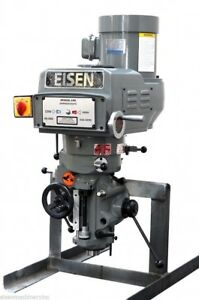 Eisen S 2ah Milling Machine Head R8 Taper 3 Hp 220v 3 phase