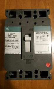 thed136020wl Ge Electrical Molded Case Circuit Breaker New 3 pole 20 Amp