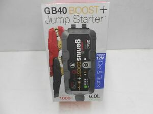 Noco Gb40 12v 1000 Ultra Safe Lithium Jump Starter Car boat rv cycle New