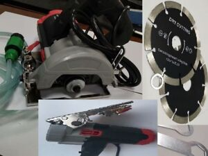 Wet Stone Concrete Cutter Saw 7 Pieces 5 Diamond Cutting Blade Disc Masonry