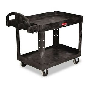 Utility Cart Heavy Duty Wheels Shopping Rubbermaid Rolling Organizing Wagon