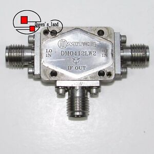 1 Miteq Dm0412lw2 4 12ghz Sma Rf Microwave Coaxial Double Balanced Mixer