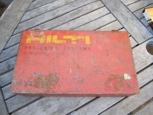 Hilti Dx 350 Powder Actuated Gun W hard Case Loads