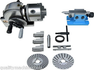 Bs 0 Dividing Head Set W 5 Chuck Tailstock For Milling Machine Free Shipping