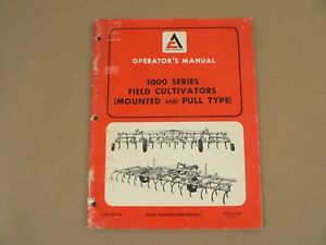 Allis Chalmers 1000 Series Field Cultivators Owners Manual Maintenance 1970