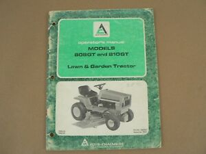 Allis Chalmers 808gt 810gt Lawn Garden Tractor Owners Manual Maintenance 1976