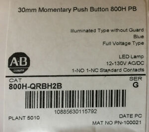 Allen Bradley 800h qrbh2b Pushbutton Lot Of 4