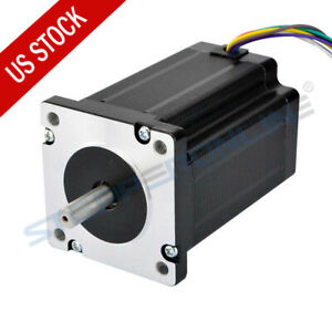 Dual Shaft Nema 24 Stepper Motor 3 1nm 439 Oz in 8 Wires For Cnc Lathe Router