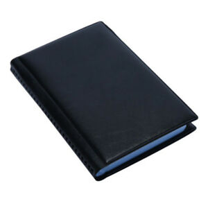 Business Leather 240 Cards Holder Name Id Credit Case Keeper Organizer Black