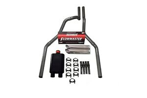 87 97 Ford F 150 Truck 2 5 Dual Exhaust Kit Flowmaster 40 Series Slash Cut Tips