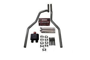 04 08 Dodge Ram 1500 2 5 Dual Exhaust Flowmaster Super 10 W Slash Tips