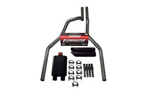 15 18 Ford F 150 2 5 Dual Exhaust Flowmaster Super 44 W Black Tips