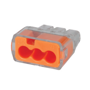 Ideal 30 1033j Push in Wire Connector 3 port Model 33 Orange Box Of 250