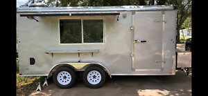 New Food Trailer Large Sinks Ac Ready City Inspection Ready