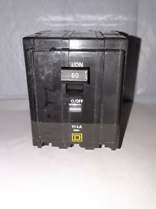 Square D Qo360 3 Pole 60 Amp 240v Plug On Circuit Breaker Type Qo New