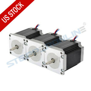 Stepper Motor 3pcs Nema 23 1 9nm 269oz in 2 8a 76mm Cnc Mill Lathe Router