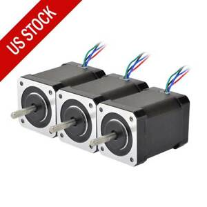 3pcs High Torque Nema 17 Stepper Motor 92oz in 2 1a Cnc Robotics 3d Printer