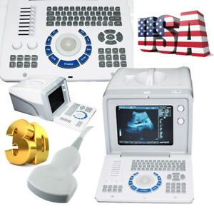 3d Portable High Resolution Ultrasound Scanner Monitor Machine 3 5 Convex Probe