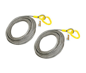 2 Pieces Roll Off Cable For Container Truck 6x26 Steel Core 7 8 X 82