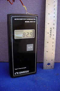 Functional Omega Hh 71 K1 Thermocouple Thermometer Type K
