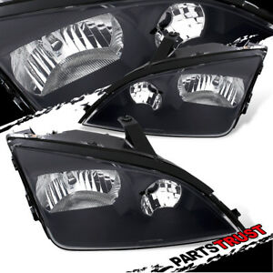 2005 2006 2007 Ford Focus Factory Style Black Replacement Headlights Pair