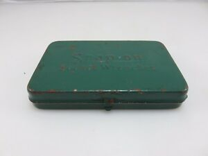 Snap On Small Metal 1 4 Drive Socket Wrenches Set Tool Storage Box Vintage Usa