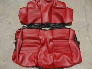 Oem 2005 2009 Ford Mustang Rear Seat Cover Set Red Leather