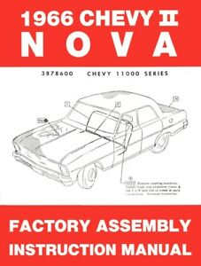 1966 Chevy Ii Nova Factory Assembly Manual Oe Quality Printed In The Usa