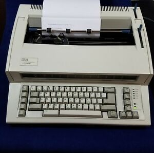 Ibm Lexmark Personal Wheelwriter 2 Electric Typewriter Cover And User Guide