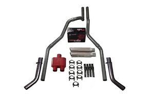 87 97 Ford F 150 2 5 Dual Exhaust Cherry Bomb Extreme Corner Exit Silve Tip