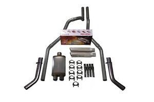 98 03 Ford F 150 2 5 Dual Exhaust Cherry Bomb Salute Corner Exit Silve Tip