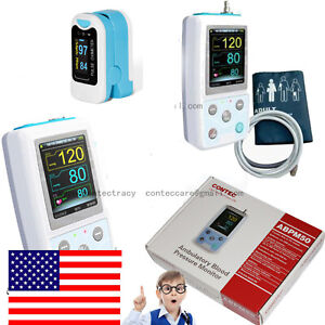 Us 24h Nibp Holter Ambulatory Blood Pressure Monitor Abpm50 nibp Free Software