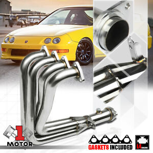 Stainless Steel 4 1 Exhaust Header Manifold For Integra Gsr civic Si B18 Dc1 Dc2