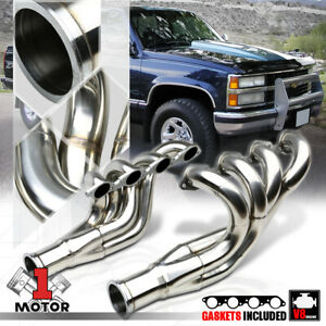 Ss Mid length Exhaust Header Manifold For Chevy Bbc Big Block 396 572 Block Top