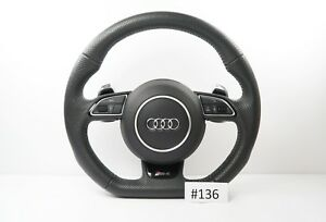 Audi Rs4 Line A4 S4 A5 Rs4 A5 S5 Steering Wheel Flat Botton Shift Padlles 136