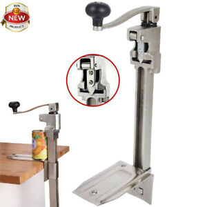 Stainless Steel Commercial Grade Can Opener 47 X 21cm Heavy Duty Table Mount