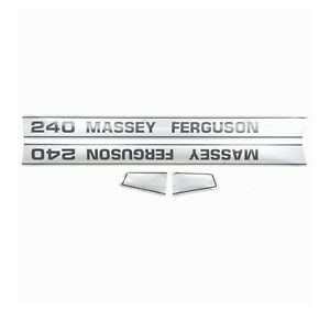 1681728m3 Hood Decal Kit Fits Massey Ferguson 240