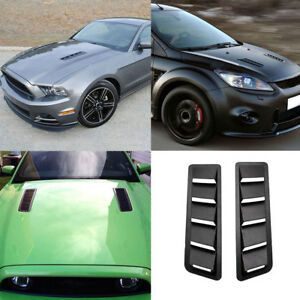 2pcs Car Styling Universal Hood Vent Louver Cooling Panel Abs Blinds Fine
