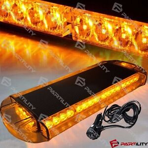 21 Inch Amber Yellow Emergency Warn Hazard Security Strobe Led Light Bar Roof