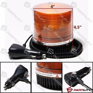 Amber Magnetic Beacon Light Emergency Warning Strobe Yellow Roof Round