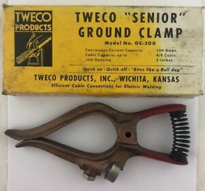 Tweco Gc500 92051150 Senior 500 Amp Grounding Clamp 10 Length
