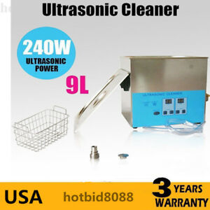 Pro 9l Ultrasonic Cleaner Stainless Steel Jewelry Industry Heated Heater W timer