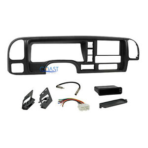 Car Radio Stereo Double Din Dash Kit Panel Wire Harness For 95 02 Gm Truck Suv