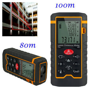 New Digital Laser Distance Meter Diastimeter 100m 328ft Lcd Tape Finder Handheld