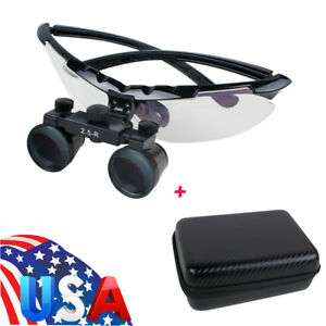 Light weight Factory Dental Surgical Medical Binocular Loupes 2 5x Glass Case