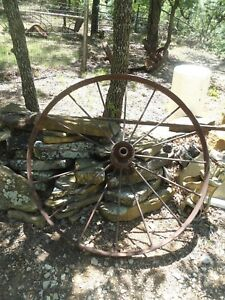 Heavy Metal Farm Wheel Machinery Wagon Spokes 49 Decorator Garden Fence Art